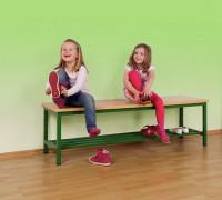 Sitzbank mit durchgehender Sitzfläche und Schuhrost - verschiedene Breiten