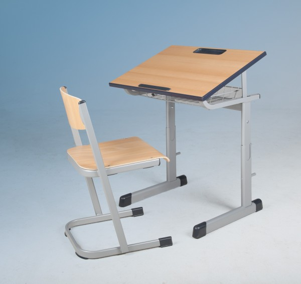 Schülertisch, schrägstellbar