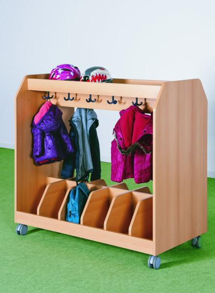 Garderobenwagen für 12 Taschen, fahrbar