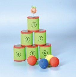 Soft-Dosen-Wurfspiel, rot/grün