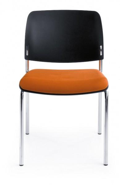 Stuhl Anabelle - Sitz gepolstert, Rückenlehne aus Kunststoff