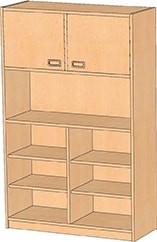 Regalschrank, H: 160-180 cm, B: 52-102 cm