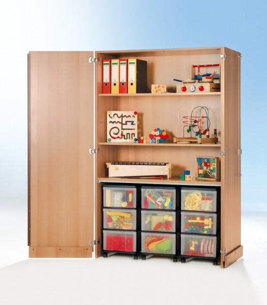 InBox Garagenschrank mit 3 Containern und 2 Einlegeböden