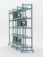 Doppelseitiges Bücherregal
