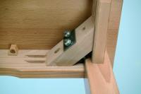 Verschiedene Tischbeine in der Höhe für Holztische