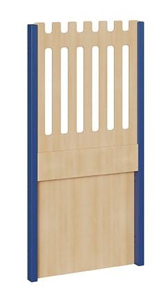 """Seitenelement für kleine Spielburgen, unten geschlossen, oben Zaun, verschiedene Breiten """"S und B"""""""
