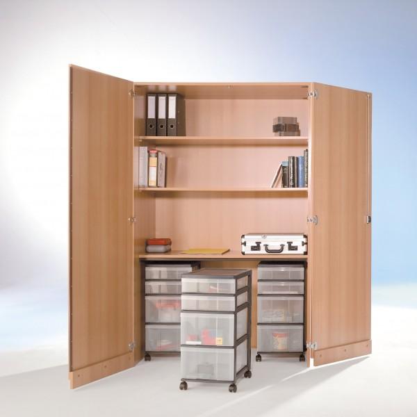 InBox Garagenschrank mit 3 fahrbaren Containern