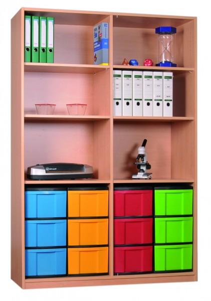 Materialregal mit InBoxen und Mittelwand
