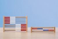 Rechenmaschine System Kühnel 1-100 rot / blau