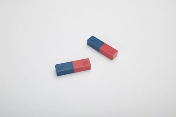 2 Schüler - Stabmagnete