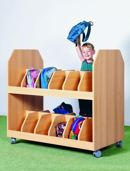 Taschenwagen für 24 Kinder, fahrbar