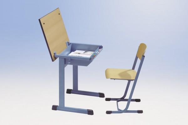Schülertisch mit Klappfunktion