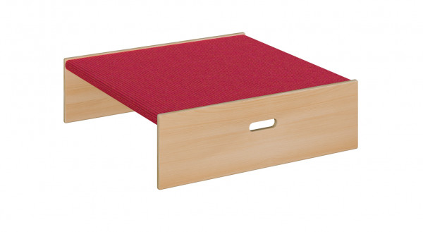 Podest mit Tretford-Teppich - Quadrat klein 2-seitig offen