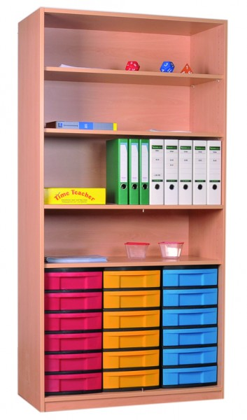 Materialregal mit InBoxen und 3 Einlegeböden