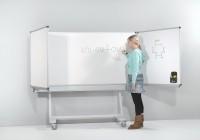 Federzugtafel - feststehend/fahrbar, weiß