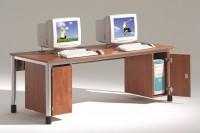 Computer-Holzunterbau für EDV-Tische