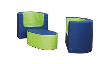 """Sitzgruppe """"Maxi-Trio"""", 2 Sessel und Tisch"""