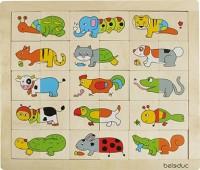 Bilderpuzzle Match und Mix - Animals