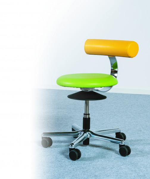 """Erzieher/innen Drehhocker """"Lisa"""" mit Rollen für ergonomisches Sitzen"""