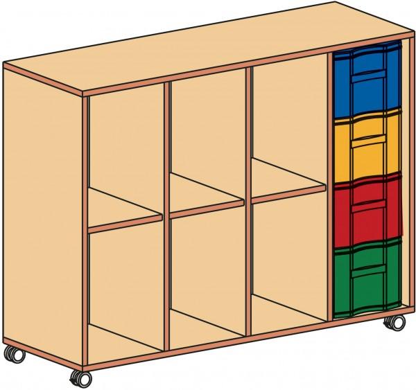 Fahrbarer Materialcontainer, 4-reihig