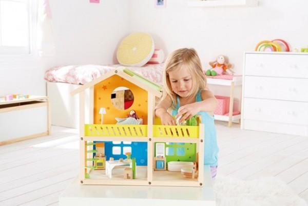 Kleine Holz-Villa - Puppenhaus