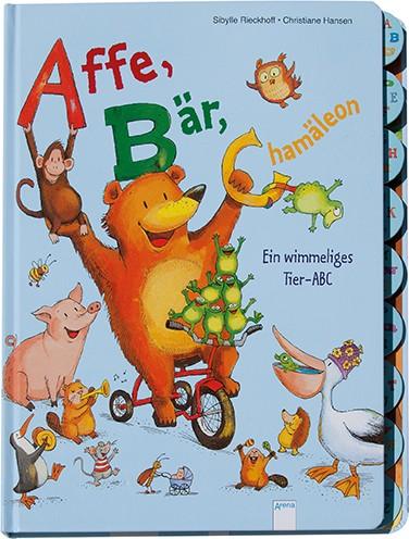 Affe, Bär, Chamäleon - Ein wimmeliges Tier- ABC