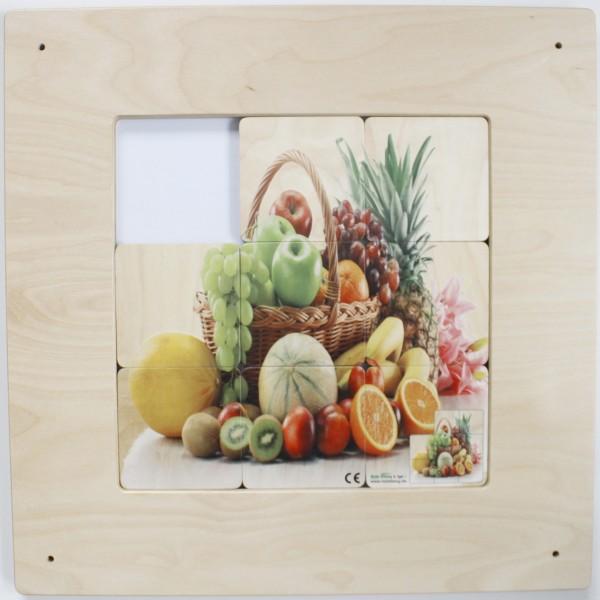 Schiebebilder Obstkorb, Frosch & Pilz