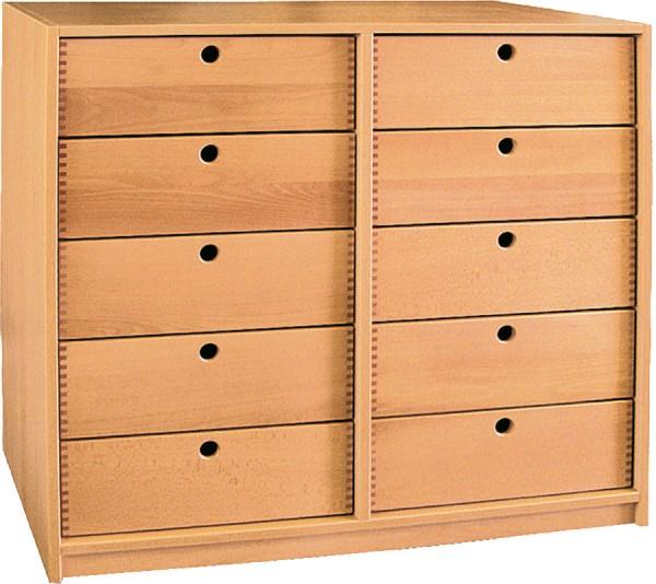 Sideboard mit 10 Holzschüben