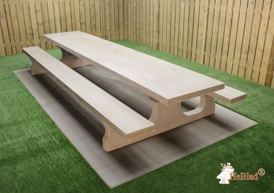 Beton Picknickset Standard XL, Bank-Tisch Kombination
