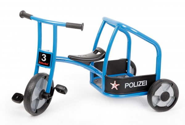 """Jakobs Dreirad """"Polizei"""" aktiv"""