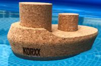 """KORXX - Spielzeug """"Dampfer"""" Boot aus Kork"""
