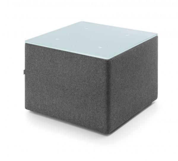 Sit! Box Beistelltisch - Quadratisch/ Rund - Bezug schwer entflammbar