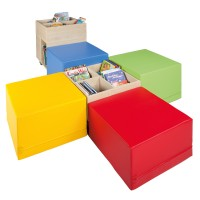 Set: Cube Bücherinsel XL