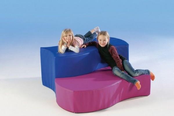 Wellensitzelement Swing-it-Sit - Rechteck, Kunstleder