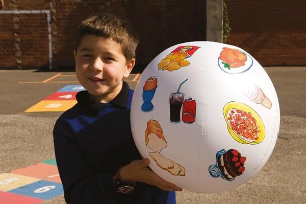 Aufblasbarer Ball mit verschiedenen Bildern