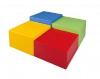 "Hocker ""cube XL"" - Stoffbezug"
