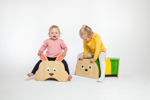 Kinder Sitzhocker - verschiedene Tiermotive