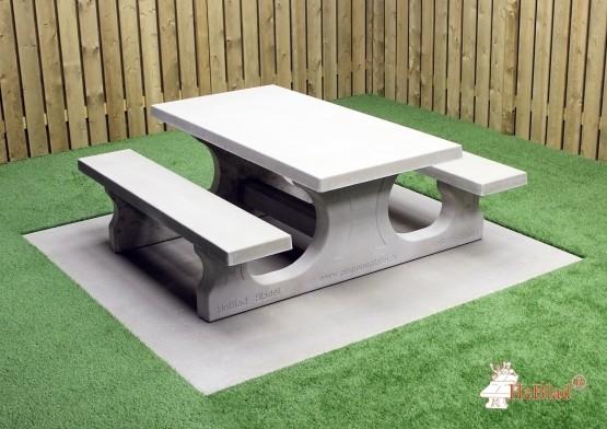 Beton Picknickset Standard, Bank-Tisch Kombination