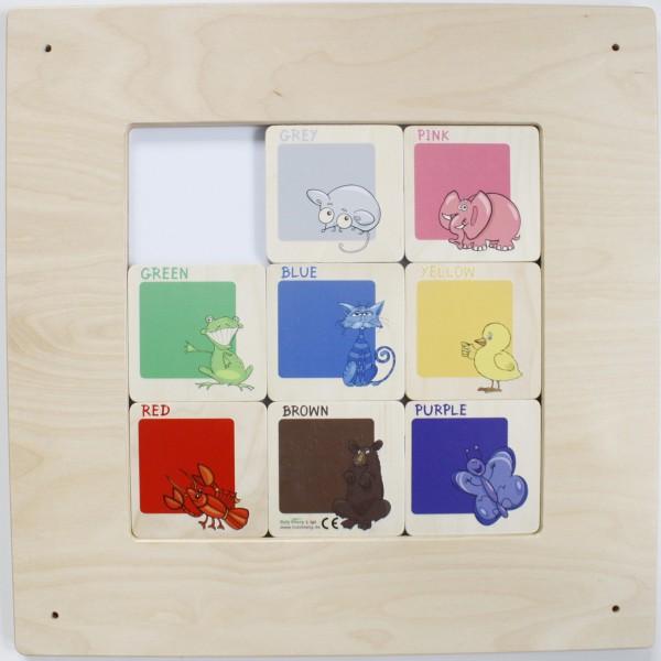 Schiebebilder Farben und Buchstaben