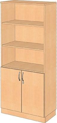 Halbtüren-Schrank, abschließbar, mit 3 Einlegeböden