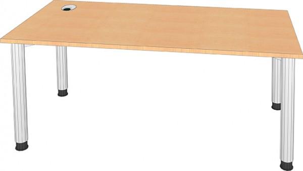 Schreibtisch mit Kabeldurchlass