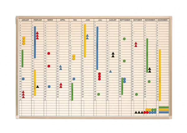 Jahreskalender inkl. Zubehör 90 x 60 cm