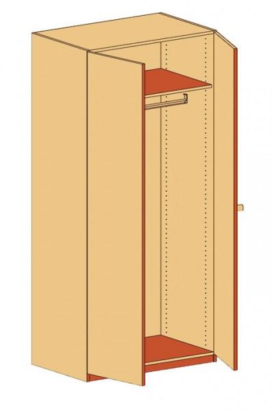 Garderobenschrank Doppeltür
