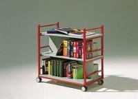 Fahrbarer Bücherwagen