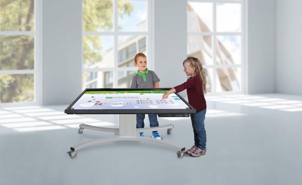 Höhenverstellbares Tischsystem für Displays
