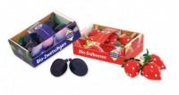 Kaufladen-Zubehör Erdbeer- und Pflaumensteige
