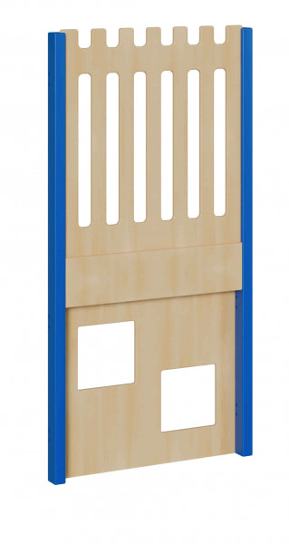 """Seitenelement für kleine Spielburgen Größe """"S"""" unten 2 Quadrate, oben Zaun"""