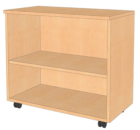 Fahrbares Sideboard, 80x72x40 cm