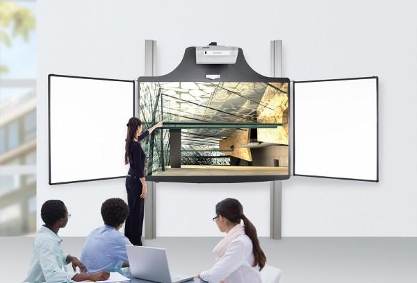 Cloudboard elektrisch höhenverstellbare 2-Pylonensystem mit 2 Seitenflügeln (ohne Projektor)