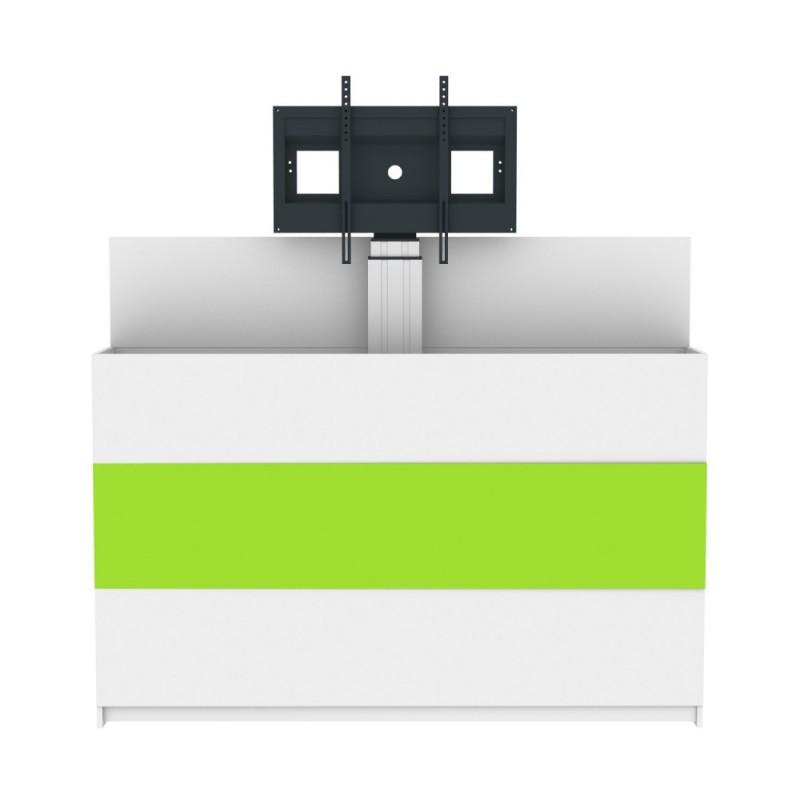 Wandschrank mit integrierter Monitorhalterung